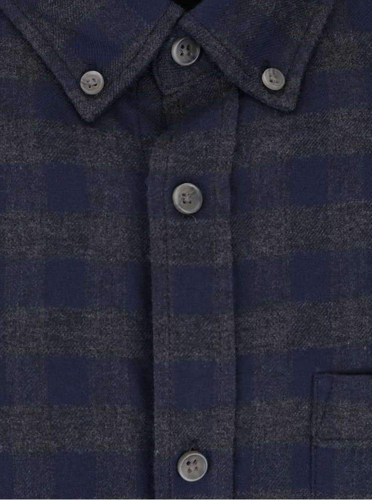 Camasa gri & albastru Jack & Jones William cu model in carouri