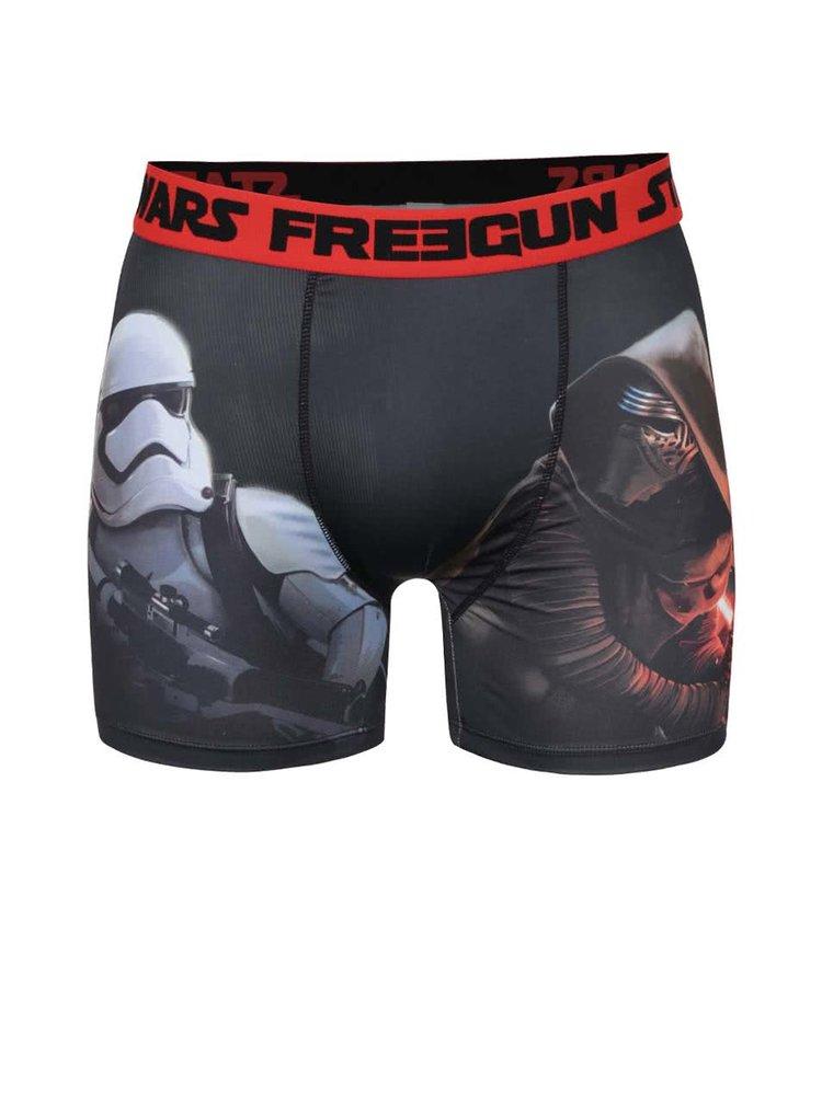 Červeno-černé boxerky s potiskem Star wars Freegun
