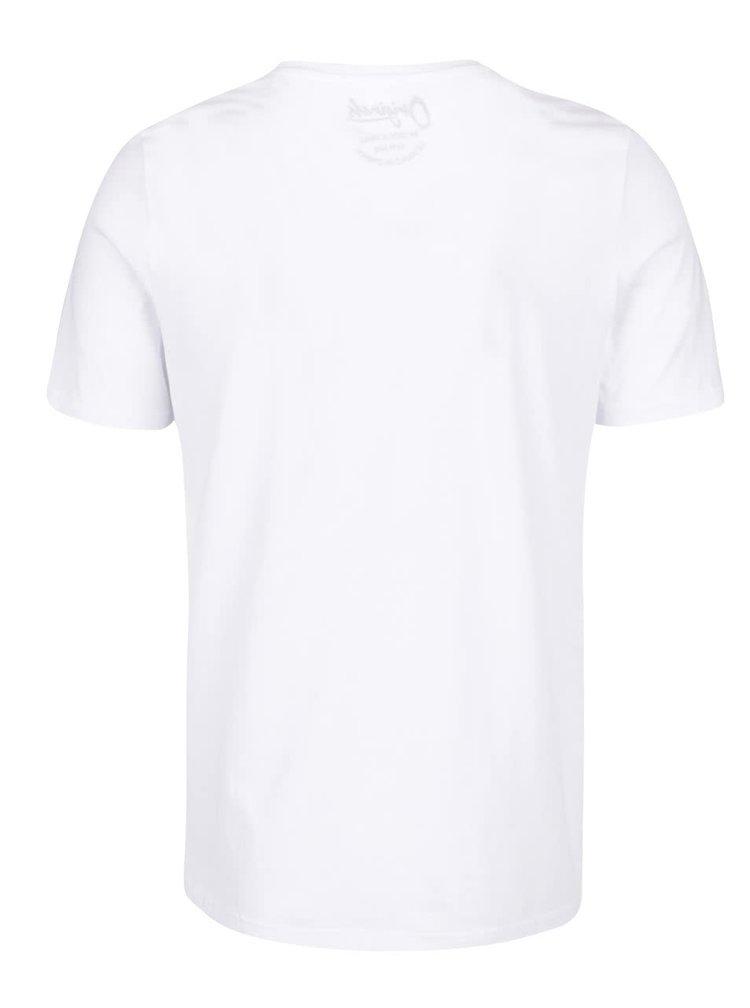 Biele tričko s potlačou Jack & Jones Folsom