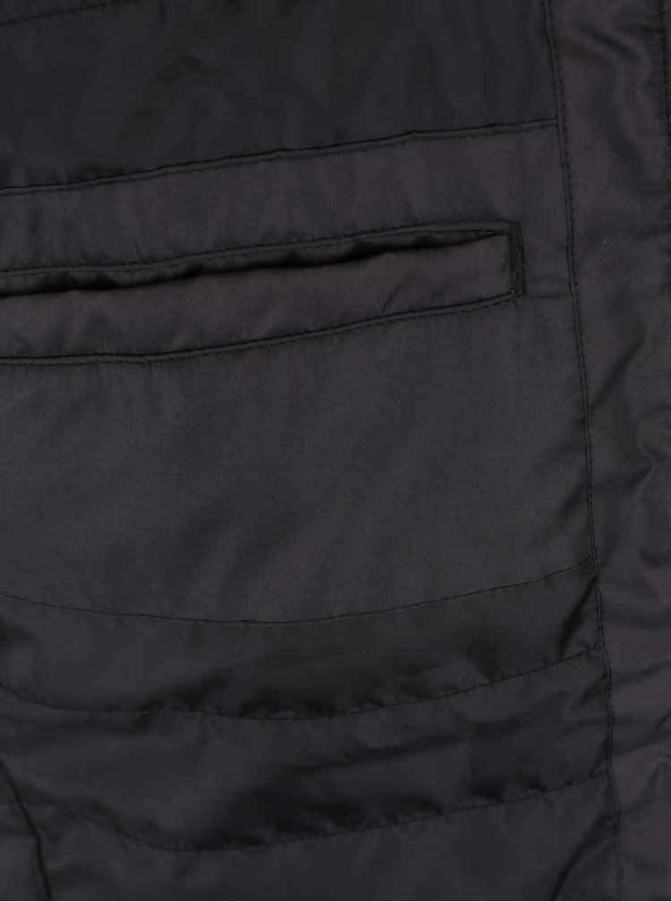 Černá bunda s límcem Jack & Jones Lift