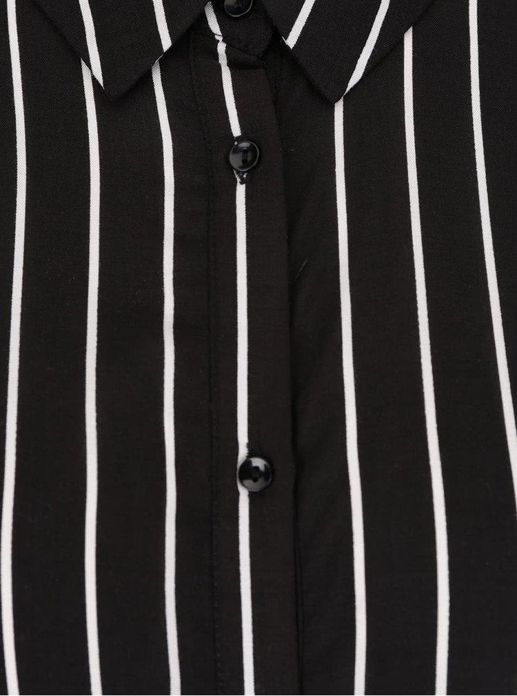 Krémovo-černá pruhovaná košile ONLY Iris