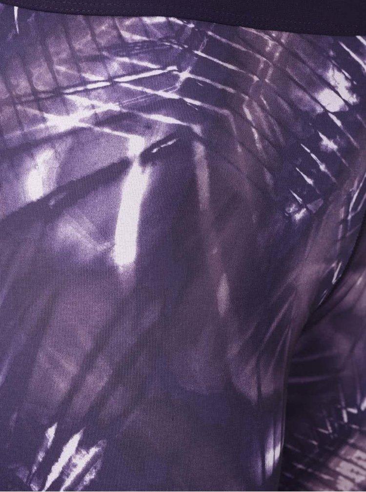 Colanti violet Nike Pro Warm Tight cu imprimeu