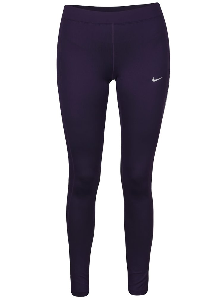 Colanți violet Nike Power Flash Essential cu print cu logo