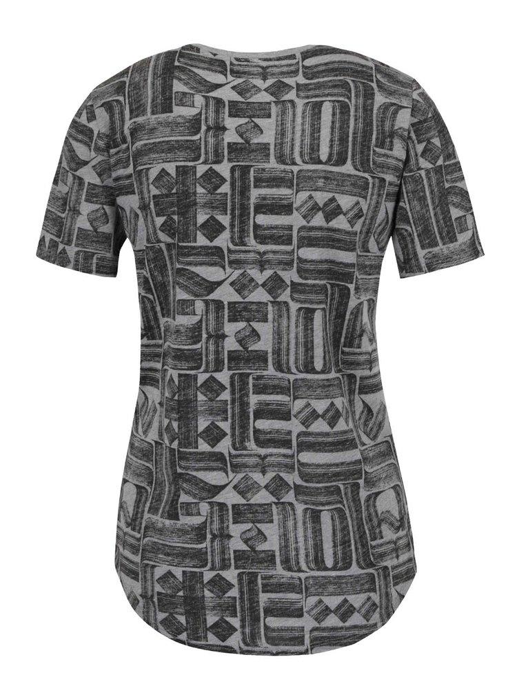 Tricou gri & negru Nike pentru femei cu imprimeu