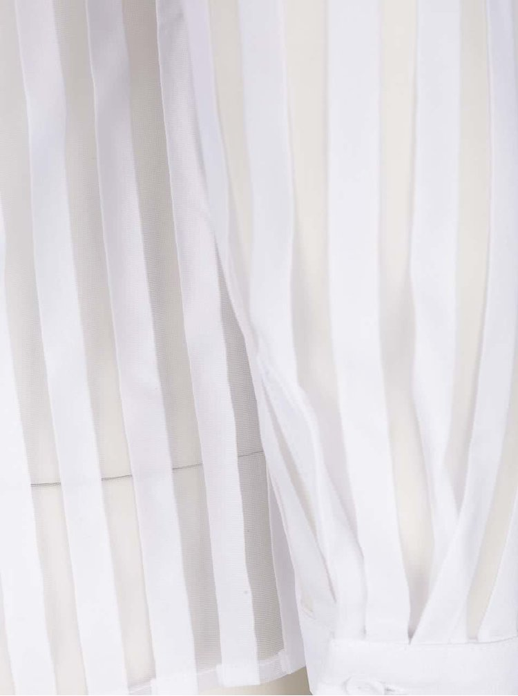Camasa alba cu dunsi transparente TALLY WEiJL