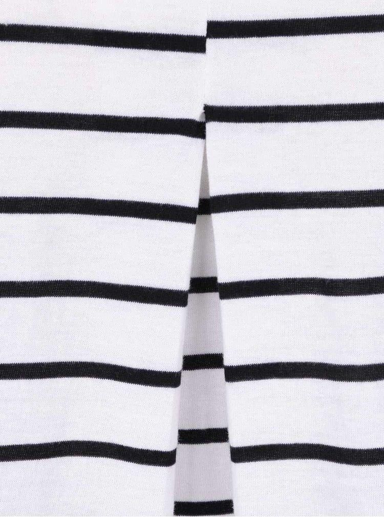 Černo-bílé pruhované tričko s 3/4 rukávy VERO MODA Sui