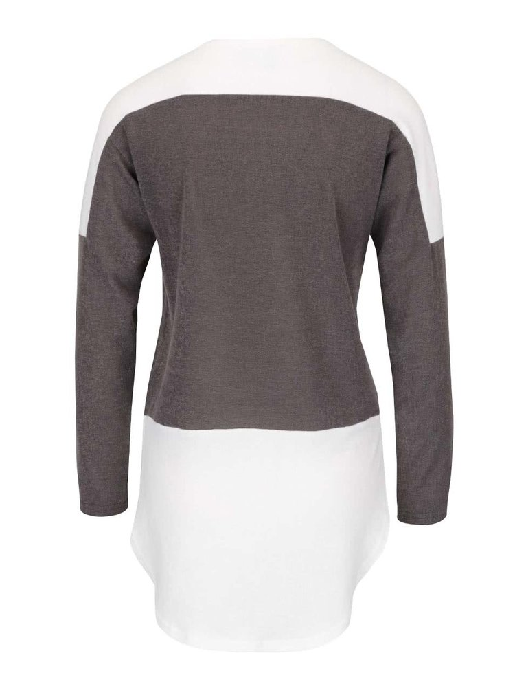 Bluză gri și crem cu mâneci lungi AX Paris