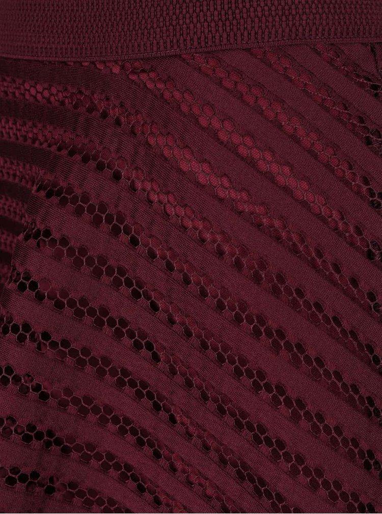 Vínová perforovaná sukně  AX Paris