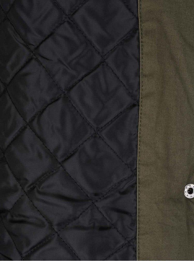 Khaki parka s umělým kožíškem AX Paris