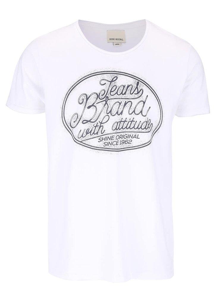 Tricou alb Shine Original Core  cu print
