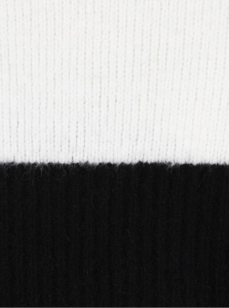 Černo-krémové svetrové šaty AX Paris