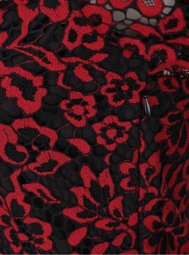 Rochie negru cu roșu din dantelă VERO MODA Carrie