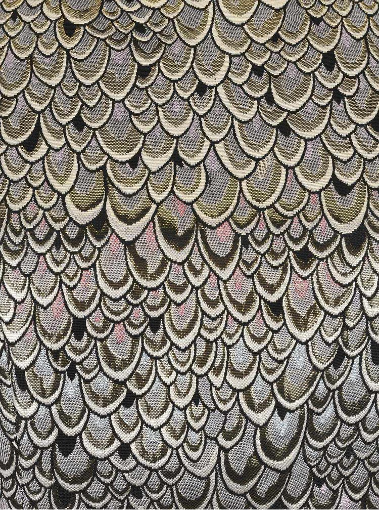 Třpytivé šaty v šedo-zlaté barvě VERO MODA Anna