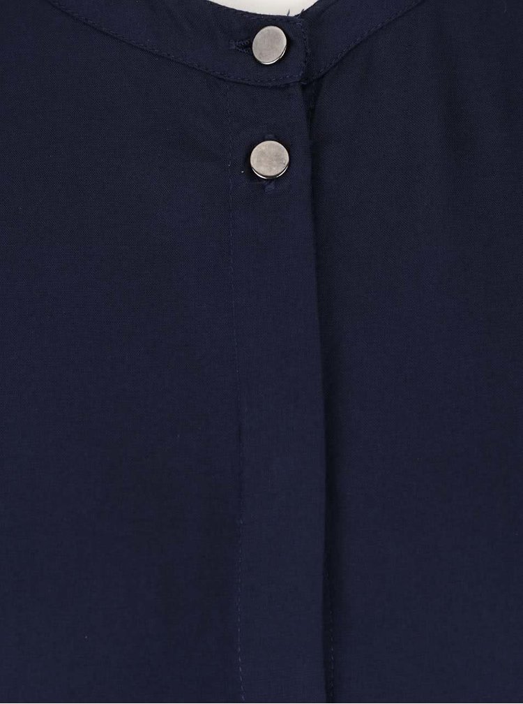 Tunică albastru închis cu nasturi VERO MODA Lana