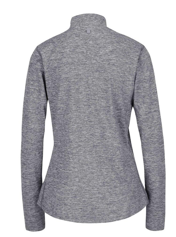 Bluza sport gri Nike Dry Element cu guler inalt si model discret