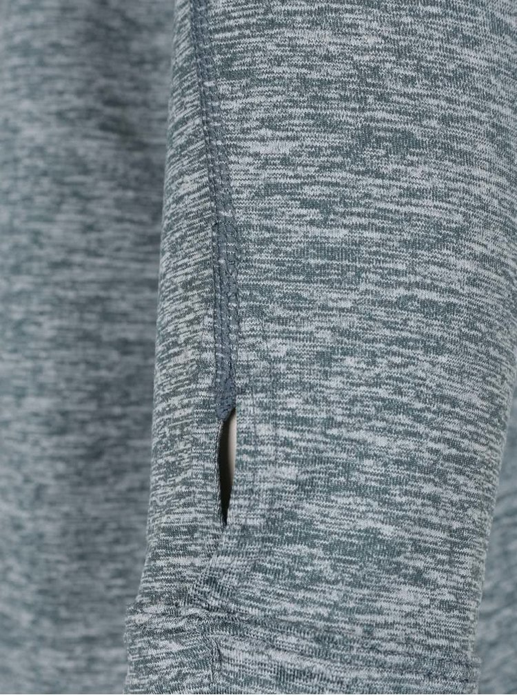Zelené melírované dámske tričko s dlhým rukávom Nike Dry Element