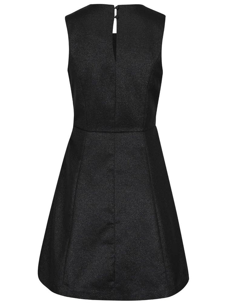 Černé třpytivé šaty bez rukávů VERO MODA Anna