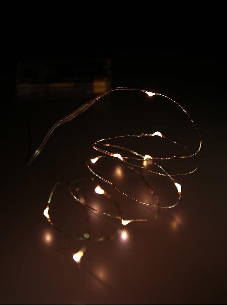 Instalatie cu lumini galbene decoLED in forma de picaturi