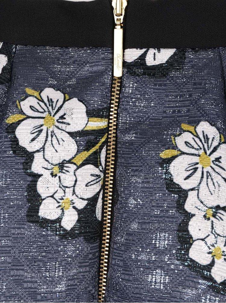 Modrá třpytivá sukně s květovaným motivem Closet