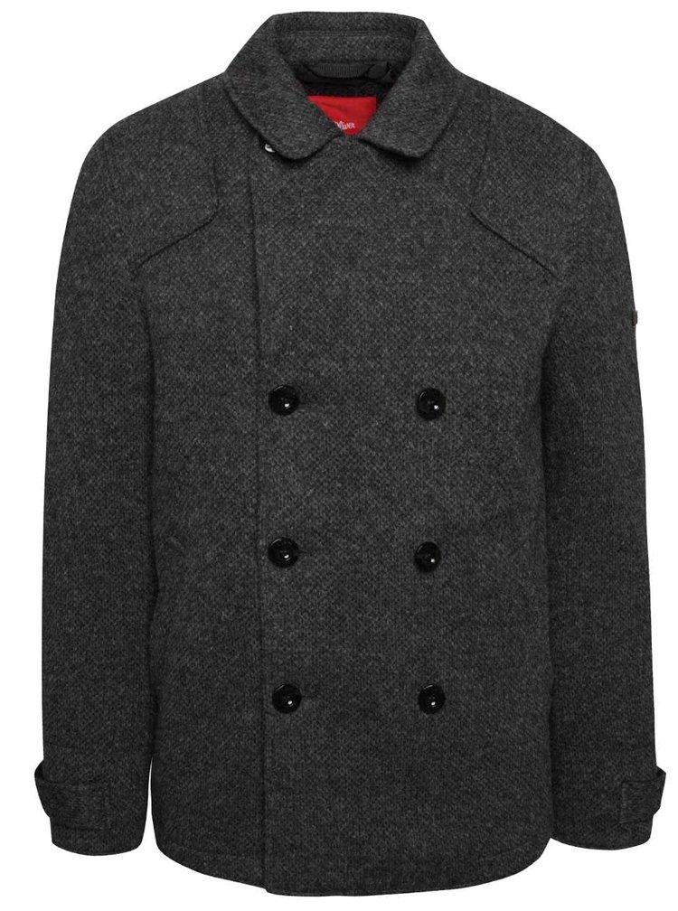 Šedý pánský kabát s.Oliver
