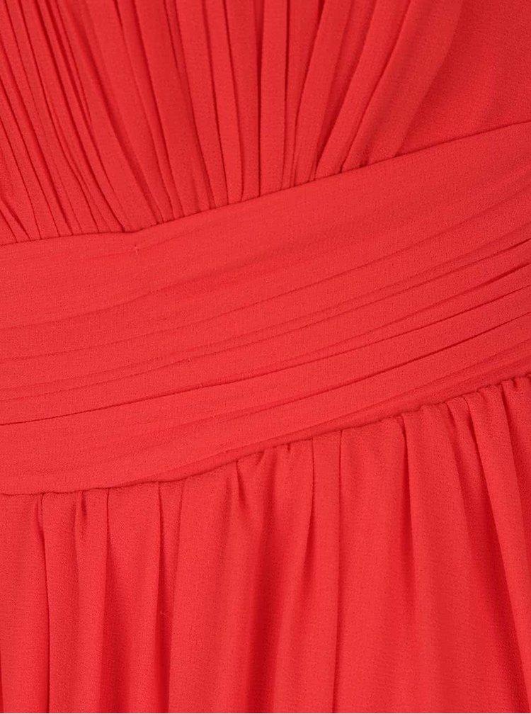 Červené maxišaty s průstřihem v dekoltu Little Mistress