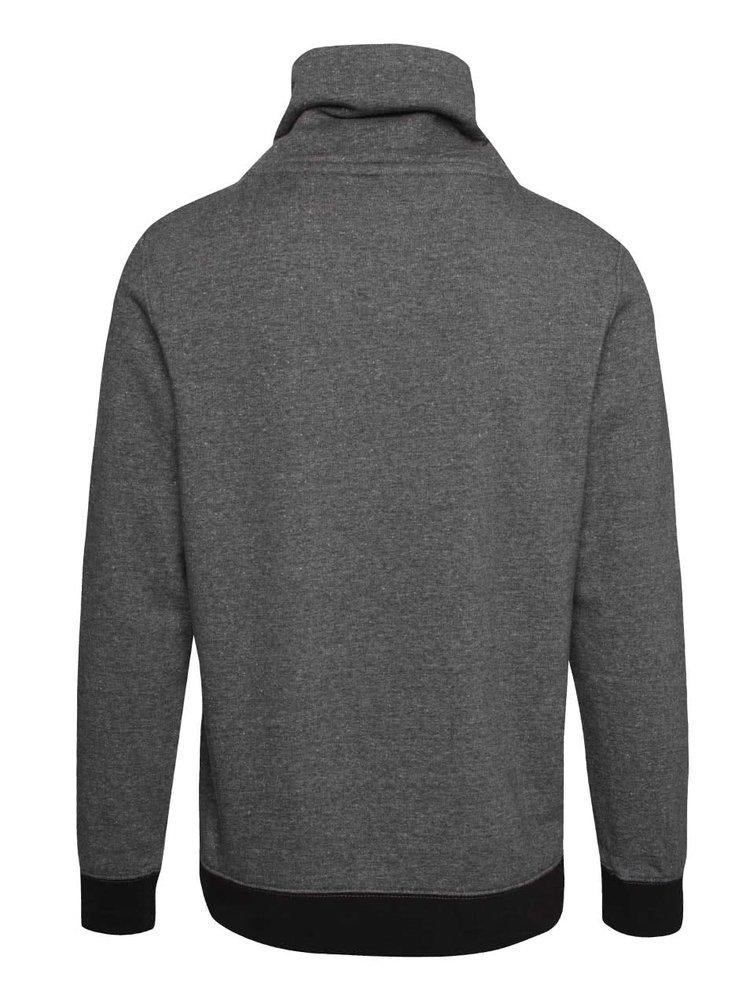 Bluză gri cu guler înalt s.Oliver