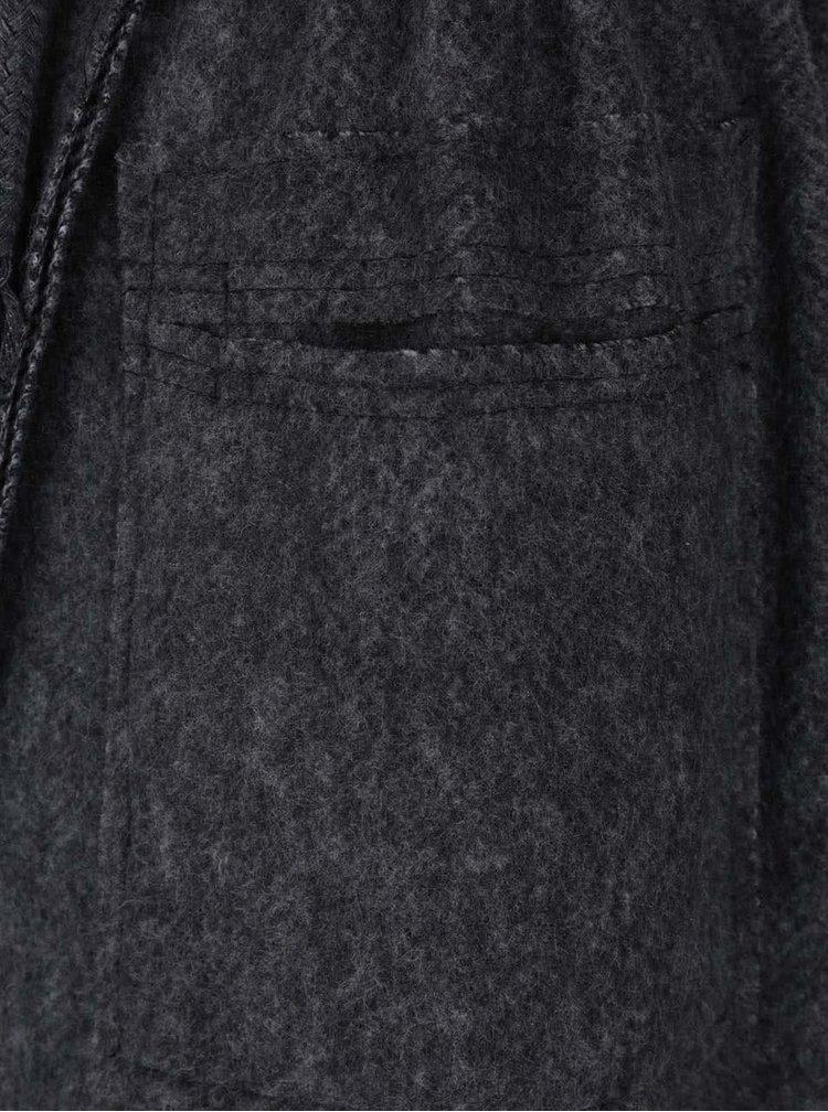 Palton gri inchis ZOOT Simple cu model discret
