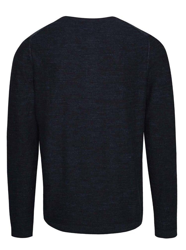 Tmavě modrý pánský lehký svetr s knoflíky s.Oliver