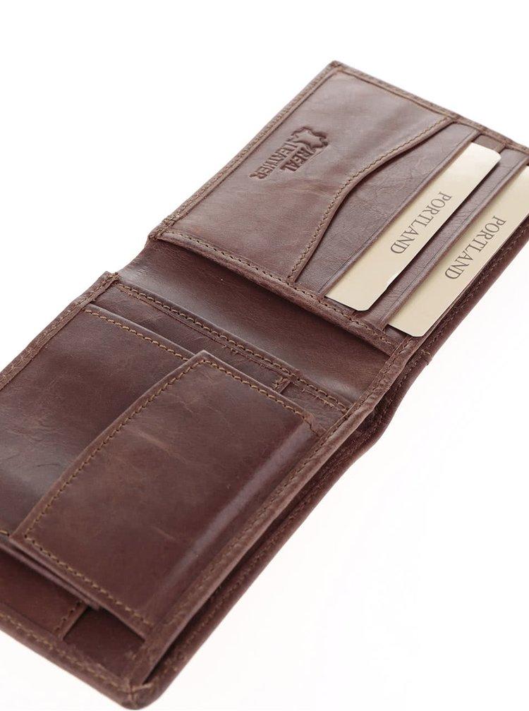 Pánský dárkový set hnědé kožené peněženky s otvírákem na lahve Something Special