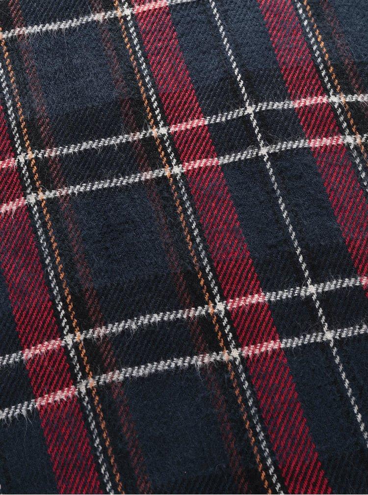 Červeno-modrý pánsky šál so vzorom Something Special
