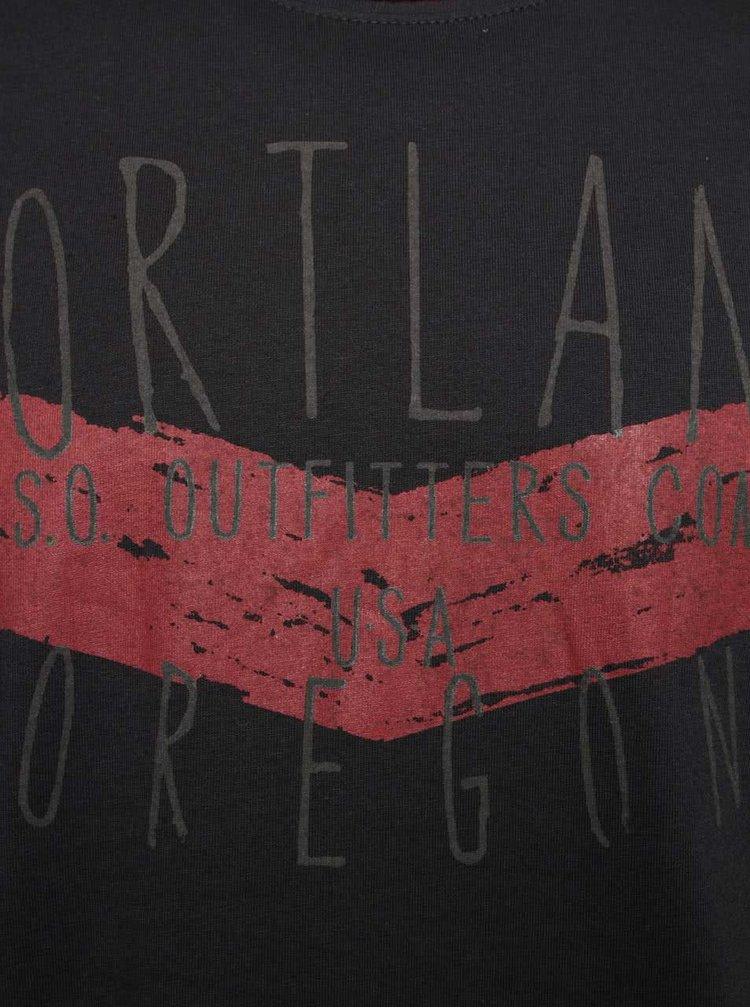 Šedé pánské triko s dlouhým rukávem s.Oliver