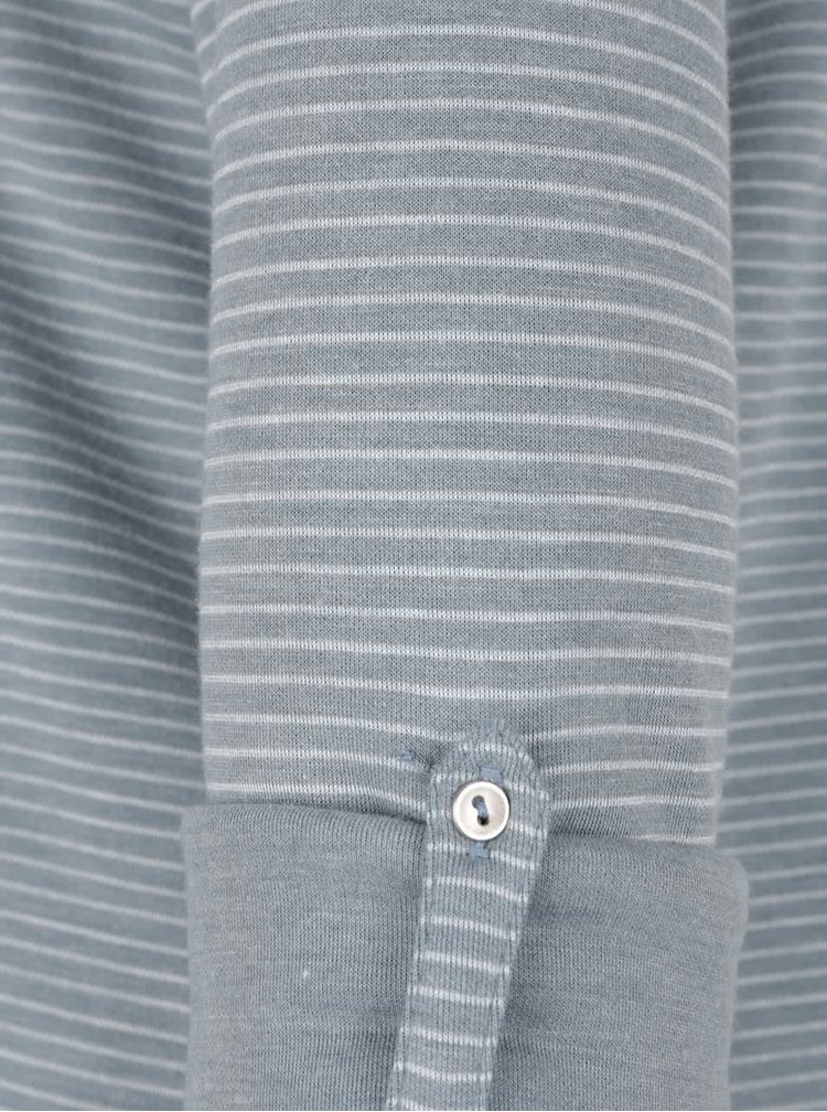 Modrošedé dámské pruhované tričko s.Oliver