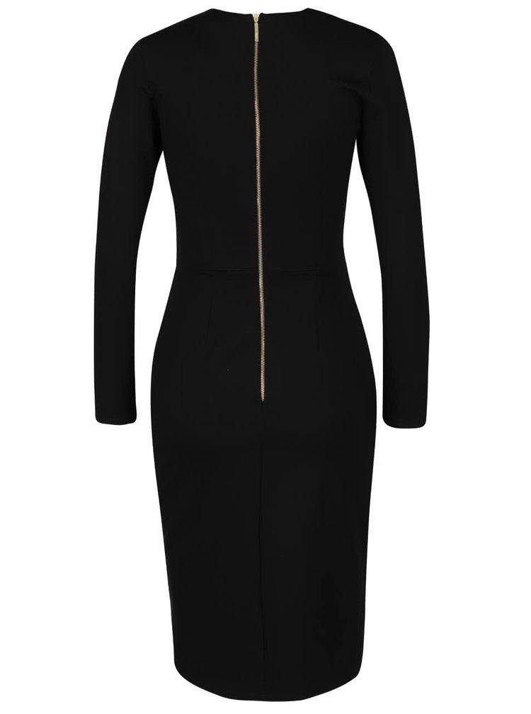 Černé šaty s dlouhým rukávem Closet