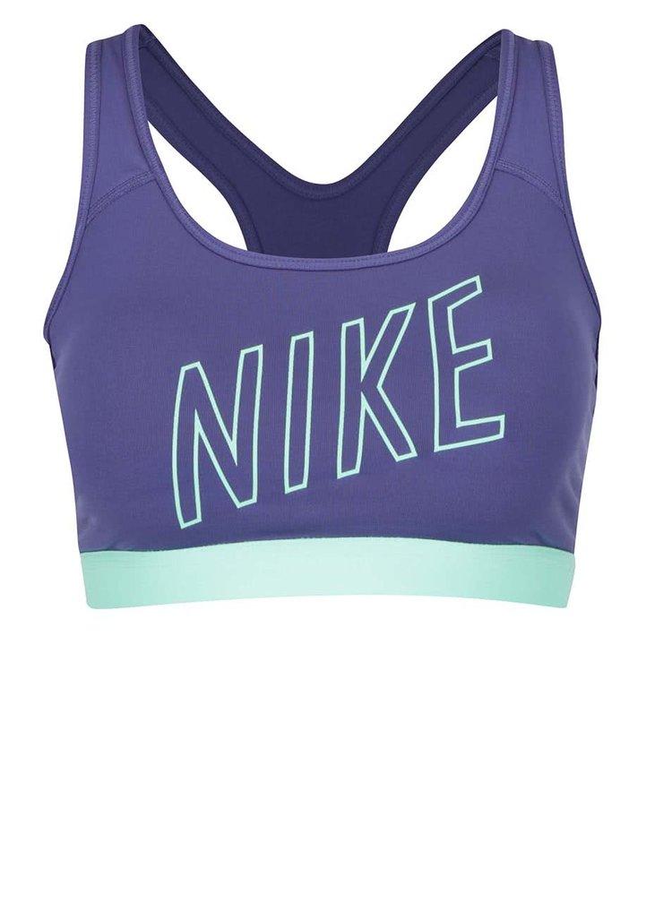 Fialová sportovní podprsenka Nike Pro Classic Padded Logo