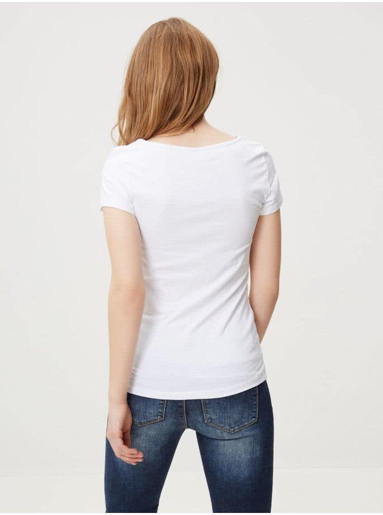 Bílé basic tričko s kulatým výstřihem VERO MODA Maxi My