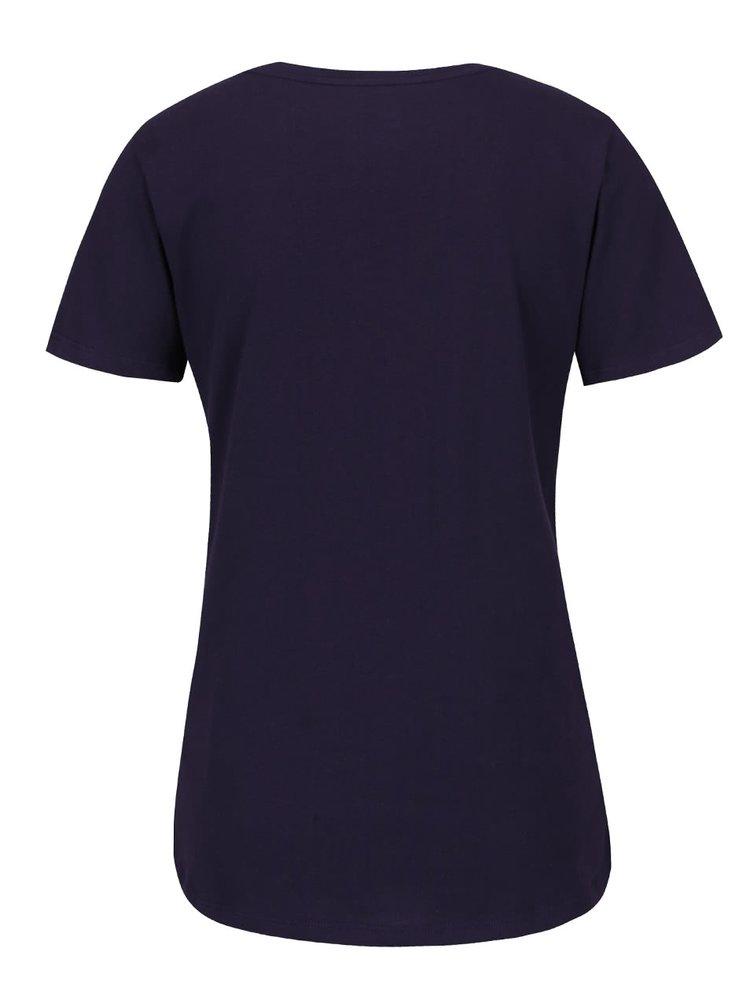 Tricou violet Nike Training cu print cu logo pentru femei