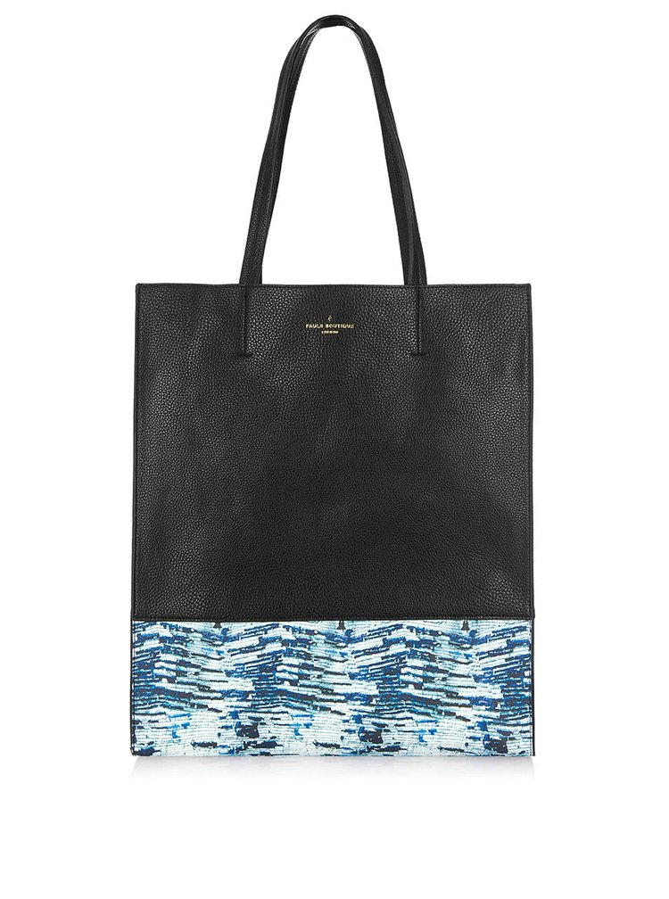 Geantă shopper negru cu albastru Paul's Boutique Elena