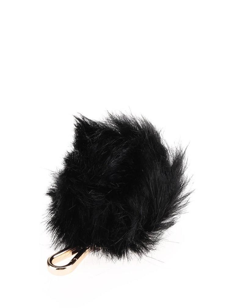 Černá klíčenka ve tvaru koule Paul's Boutique Pom Pom