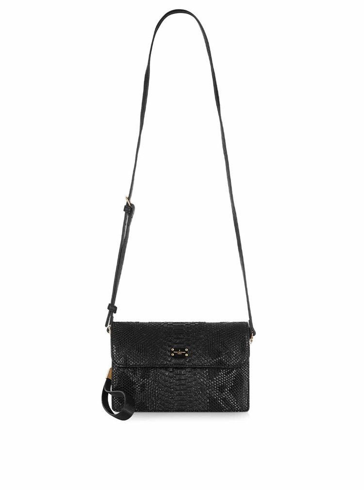 Geantă crossbody neagră cu model șarpe Paul's Boutique Veronica