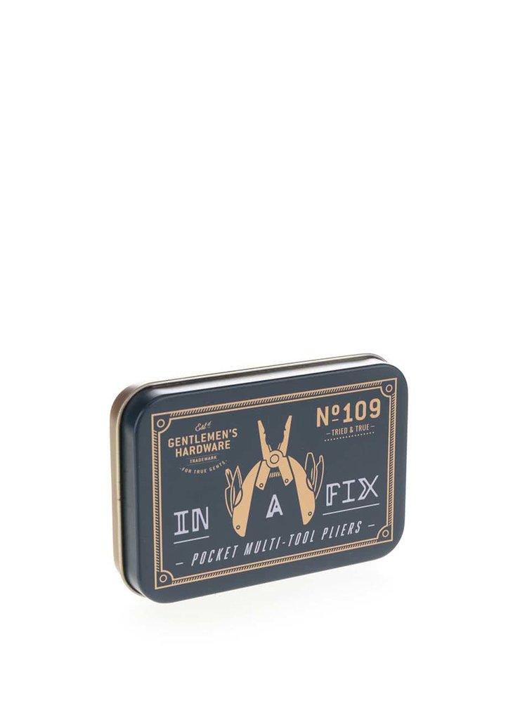 Černé multifunkční kleště ve stylové plechové krabičce Gentlemen's Hardware