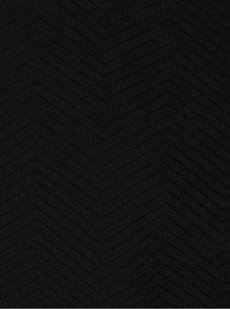 Černá mikina s prošívaným vzorem Burton Menswear London