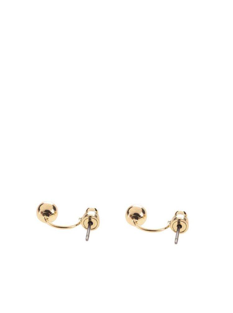 Náušnice ve zlaté barvě Pieces Pinnu