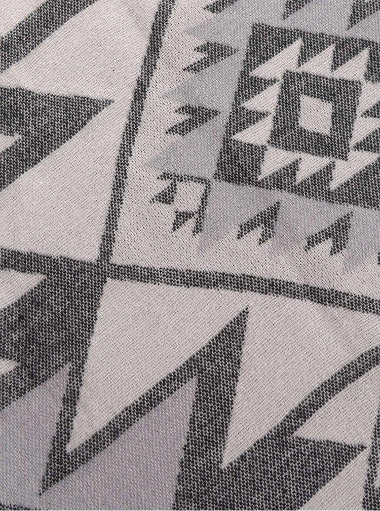 Béžová šála se vzorem Haily´s Zana