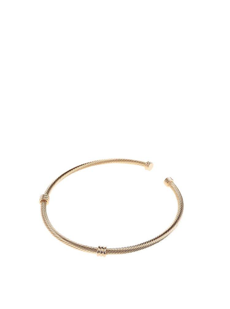 Kovový náhrdelník v zlatej farbe Pieces Deena
