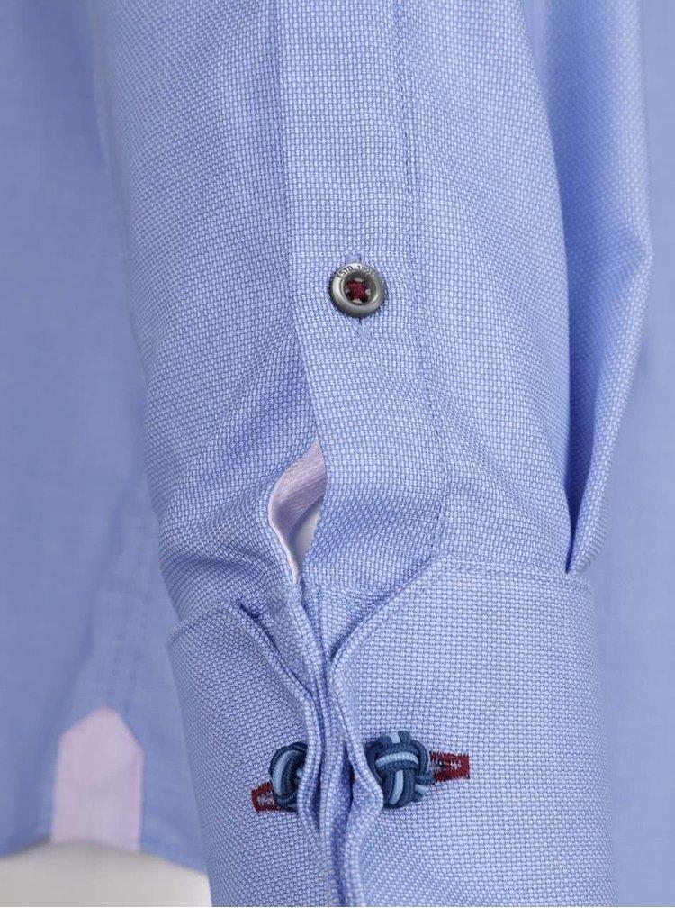 Světle modrá žíhaná formální košile Burton Menswear London