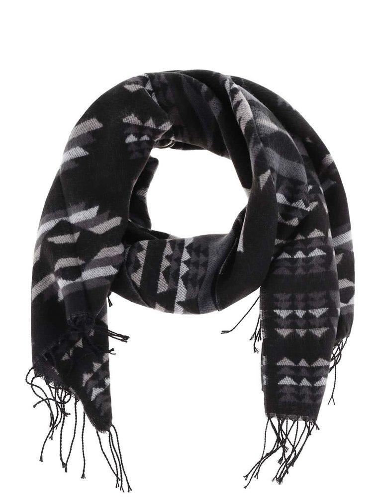 Černá šála se vzorem Haily´s Azteken Schal