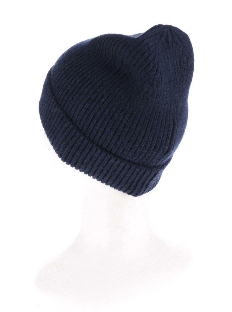 Tmavě modrá pletená čepice Pieces Pikki