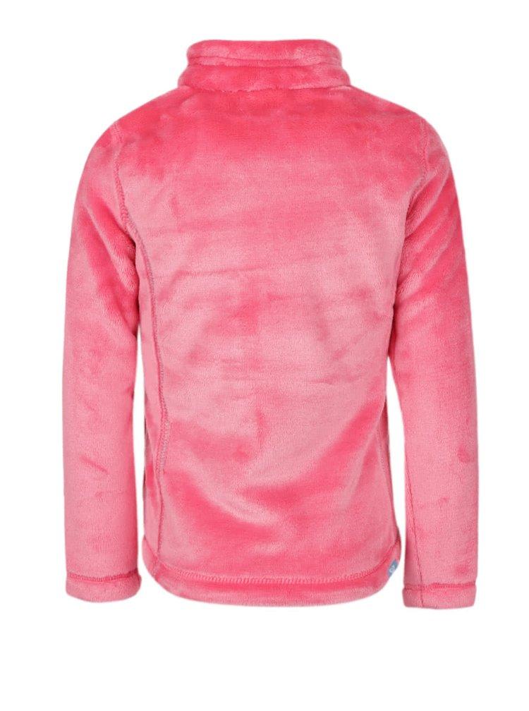 Ružová dievčenská plyšová mikina Roxy