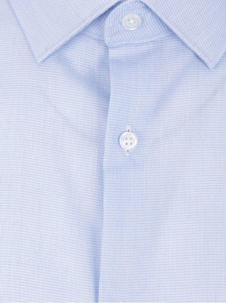 Svetlomodrá melírovaná formálna slim fit košeľa Burton Menswear London