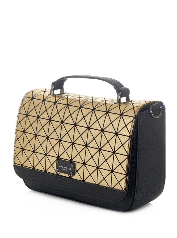 Vzorovaná crossbody kabelka v zlatej farbe Paul's Boutique Nicole
